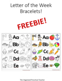 Letter of the Week Bracelet FREEBIE