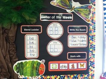 Letter of the Week Bulletin Board Set