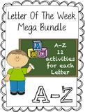 Letter Recognition Bundle --> A-Z 11 activities per Letter Mega Bundle