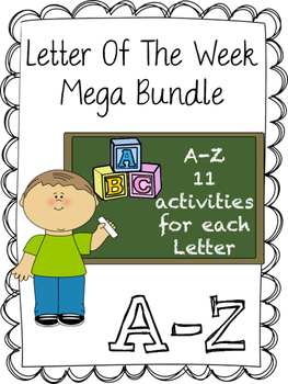 Letter Recognition Bundle --> A-Z 11 activities per Letter Mega Bundle