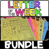 Letter of the Week Bundle | Back to School Activities