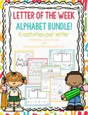 Letter of the Week Bundle - 6 activities per letter - Worksheets $ Printables