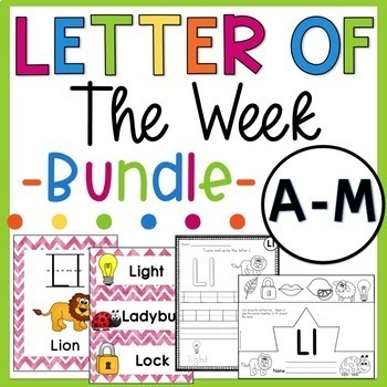 Letter of the Week Bundle A-M