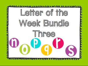 Letter of the Week Bundle Three