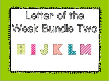 Letter of the Week Bundle Two