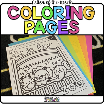 Letter of the Week - Coloring Pages A-Z