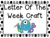Letter of the Week Craft A-Z