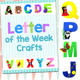 Letter of the Week Crafts with Printables and Templates