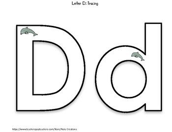 Letter of the Week - D - Activity Pack