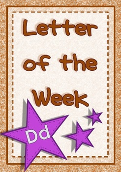 Alphabet Activities Letter Dd