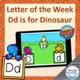 Letter of the Week Dd is for Dinosaur BOOM Cards™ for Dist