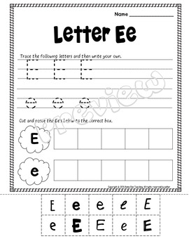 Alphabet Letter of the Week E