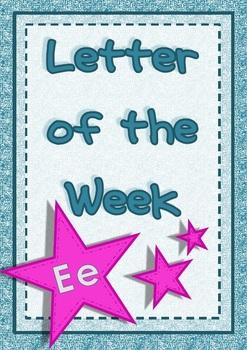 Alphabet Activities Letter Ee