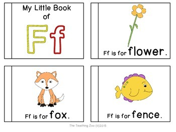 Letter of the Week Emergent Readers - F f