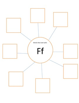 Letter of the Week- F Chart Sorting Activity