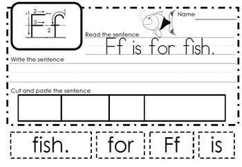 Alphabet Activities Letter Ff