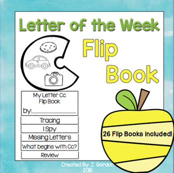 Letter of the Week Flip Books - 26 books included