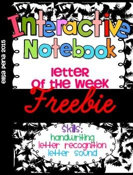 Letter of the Week Freebie