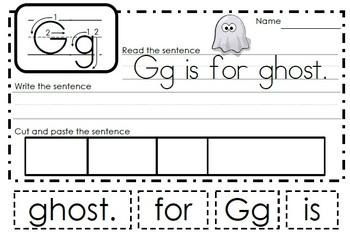 Alphabet Activities Letter Gg