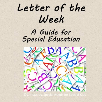 Letter of the Week Guide : How to Video