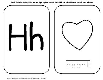 Letter of the Week - H - Activity Pack