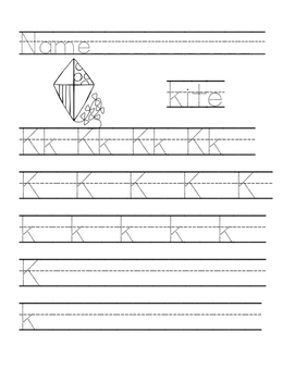 Letter of the Week Handwriting Practice Pages