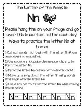 Letter of the Week Homework