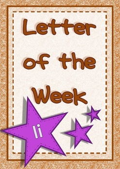 Letter of the Week - Ii
