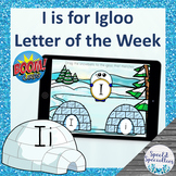 Letter of the Week Ii is for Igloo BOOM Cards™ for Distanc