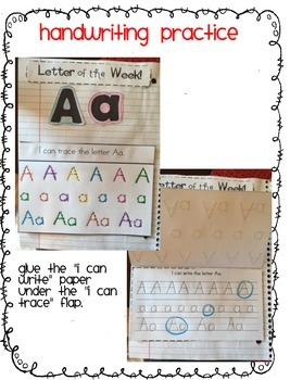 Letter of the Week Interactive Notebook