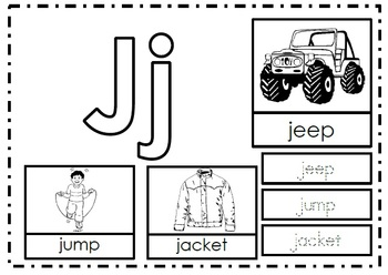 Alphabet Activities Letter Jj