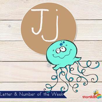 Letter of the Week Jj Workbook