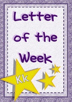 Letter of the Week - Kk