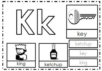 Alphabet Activities Letter Kk