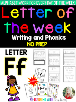 Letter of the Week - LETTER Ff - Writing, phonics, and letter work for a week