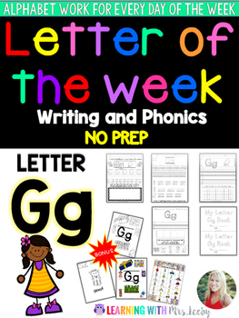 Letter of the Week - LETTER Gg - Writing, phonics, and letter work for a week