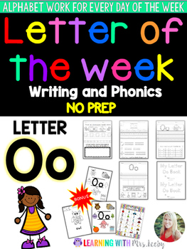 Letter of the Week - LETTER Oo - Writing, phonics, and let