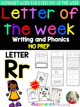 Letter of the Week - LETTER Rr - Writing, phonics, and letter work for a week