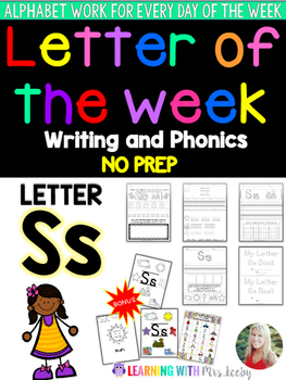 Letter of the Week - LETTER Ss - Writing, phonics, and let