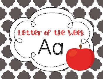 Letter of the Week: Letter A