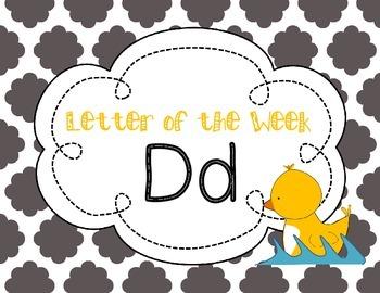Letter of the Week: Letter D