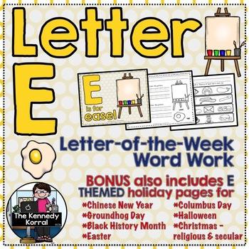 Letter of the Week: Letter E