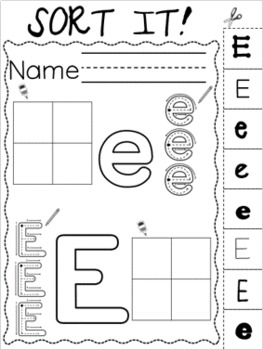 Letter of the Week ~ Letter E  ~ Set 1