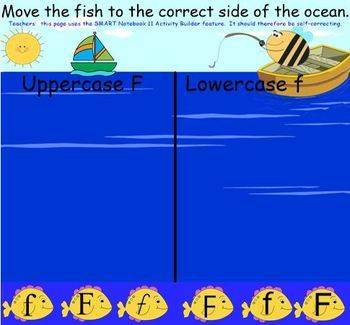 Letter of the Week:  Letter F:  A SMART Board Resource