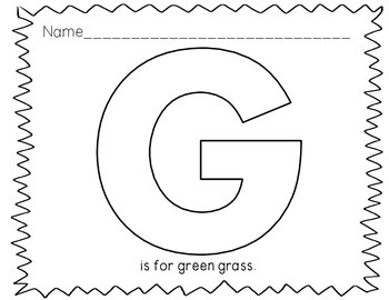 Letter of the Week: Letter G