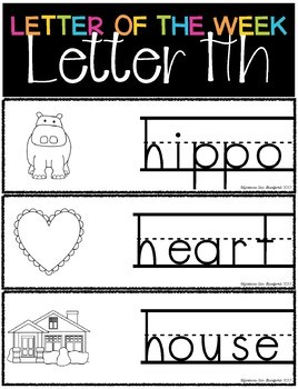 Letter of the Week - Letter H
