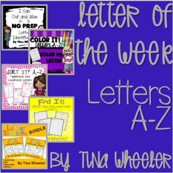 Letter of the Week ~ Letter Identification A-Z Bundle ~ Set 1