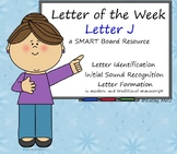 Letter of the Week:  Letter J:  A SMART Board Resource