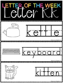 Letter of the Week - Letter K