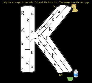 Letter of the Week:  Letter K:  A SMART Board Resource
